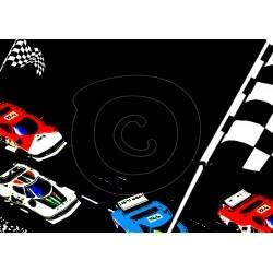 Einladungskarte Autorennen