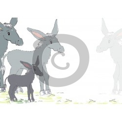 Einladungskarte Esel