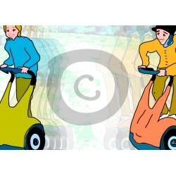 Einladungskarte Segwayfahren  (ab 4 Stck.)