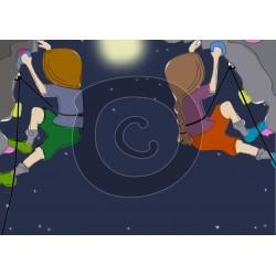 Einladungskarte Nachts klettern