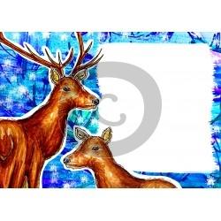 Einladungskarte Winter