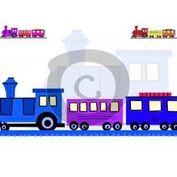 Einladungskarte Eisenbahn
