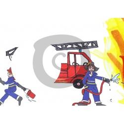 Einladungskarte Feuerwehr mit Foto