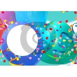 Einladungskarte Luftballons