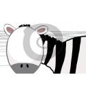 Einladungskarte Zebra mit Foto (ab 4 Stck.)