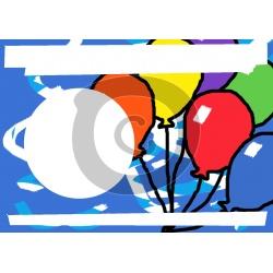 Luftballons mit Foto zum Hochladen