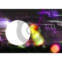 Einladungskarte 3D-Neonminigolf mit Foto zum Einfügen (ab 4 Stck.)