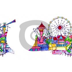 Einladungskarte Freizeitpark