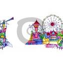 Einladungskarte Freizeitpark mit Foto zum Einfügen (ab 4 Stck.)