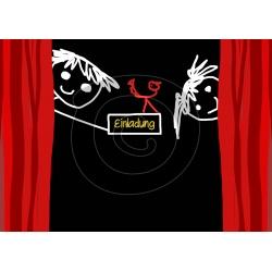 Einladungskarte Kindertheater (ab 4 Stück)