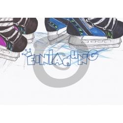 Einladungskarte Eislaufen (ab 4 Stck.) Einladung Zum Schlittschuhlaufen.