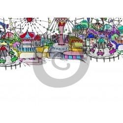 Einladungskarte Freizeitpark (ab 4 Stck.)
