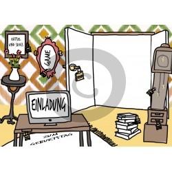 Einladungskarte Escape-Room