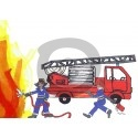 Einladungskarte Feuerwehr (ab 4 Stck.)