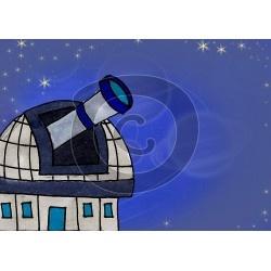 Einladungskarte Sternwarte