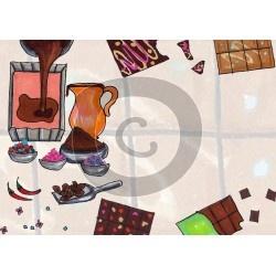 Einladungskarte Schokolade herstellen