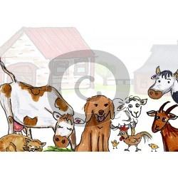 Einladungskarte Bauernhof