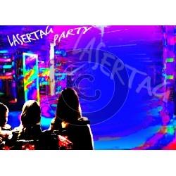Einladungskarte Lasertagparty