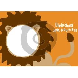 Einladungskarte Löwe mit Foto