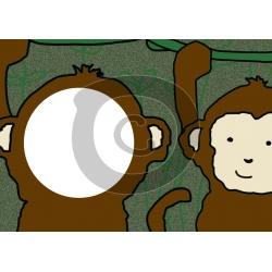 Einladungskarte Affe mit Foto