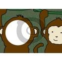 Einladungskarte Affe mit Foto (ab 4 Stck.)
