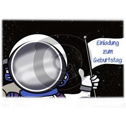 Einladungskarte Astronaut mit Foto