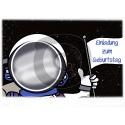 Einladungskarte Astronaut mit Foto (ab 4 Stck.)