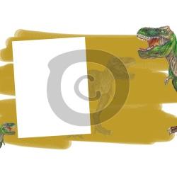 Einladungskarte Dinosaurier mit Foto zum Einfügen