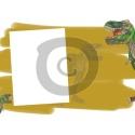 Einladungskarte Dinosaurier mit Foto zum Einfügen (ab 4 Stck.)
