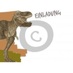 Einladungskarte Dinosaurier