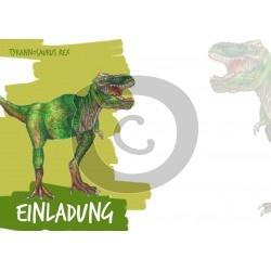 Einladungskarte T-Rex